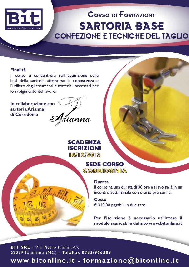 Corso corso di sartoria confezione e tecniche del taglio for Corso per arredatore d interni