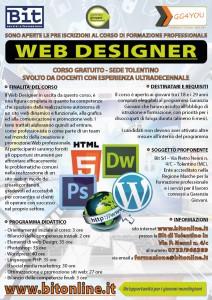 Corso Garanzia Giovani Macerata - Volantino Web Designer