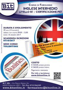 Corso Inglese intermedio - prepariamoci alla certificazione per il Pet (livello B1)