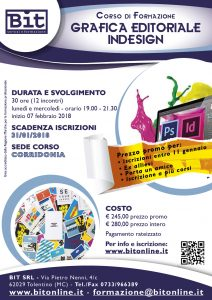Corso grafica editoriale indesign