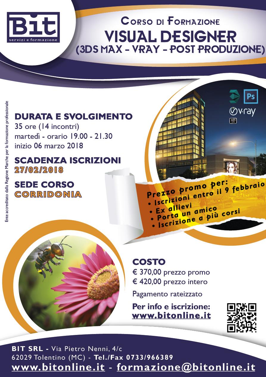 Corso visual designer 3dstudio vray e post produzione for Corso di designer