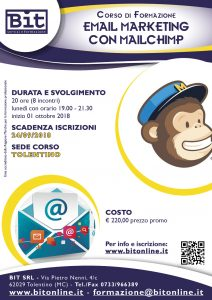 Corso Email marketing con Mailchimp