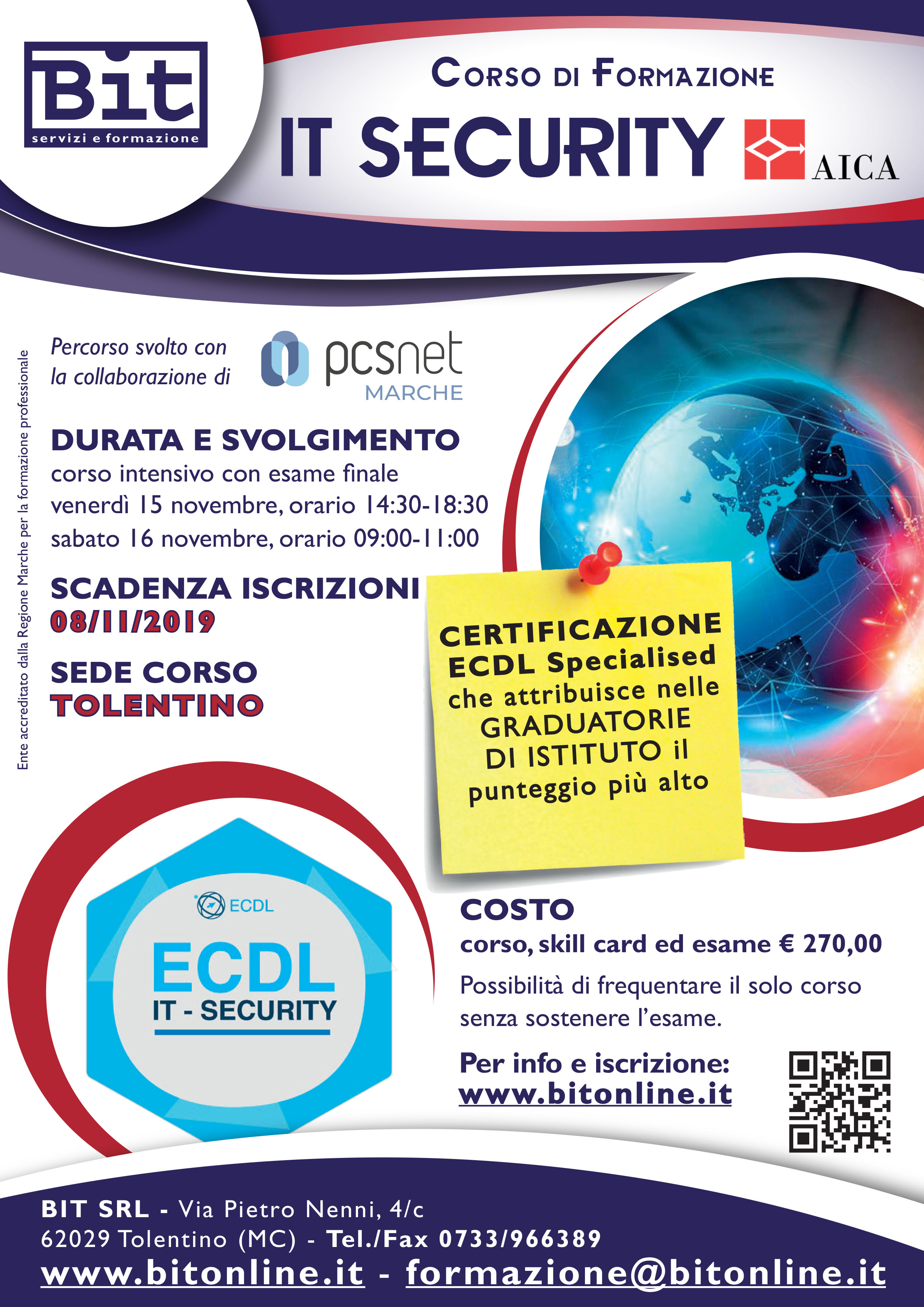 Corso Ecdl IT Security