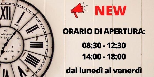 Nuovo orario apertura